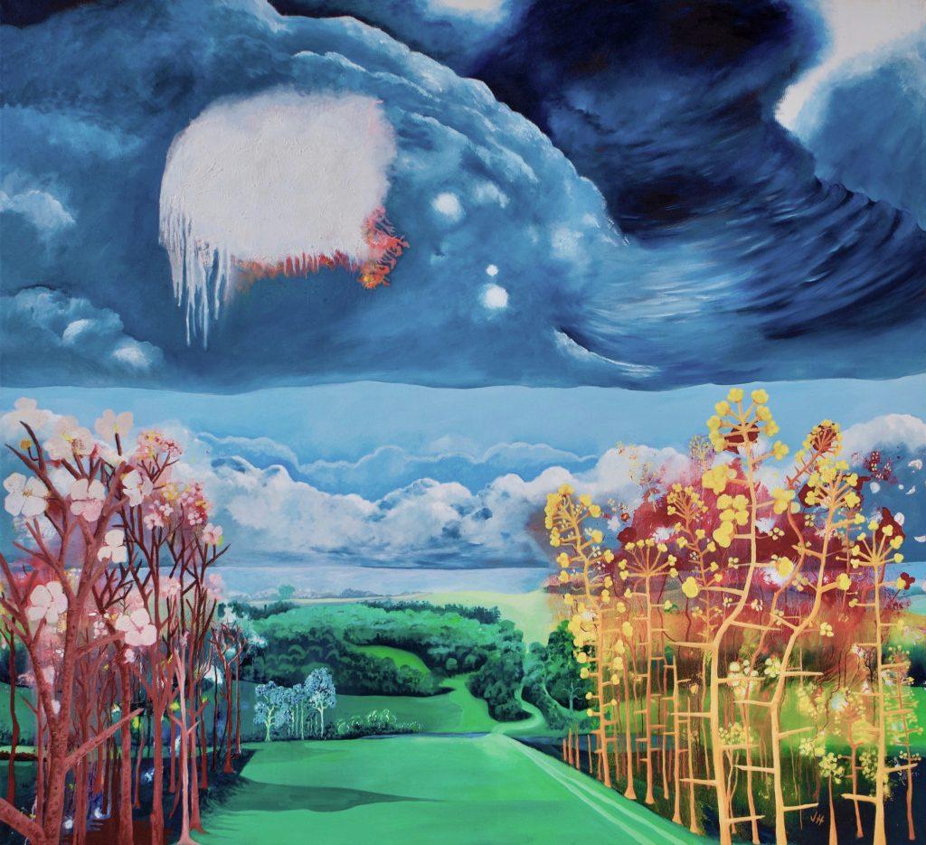 Spring Walk Landscape Painting