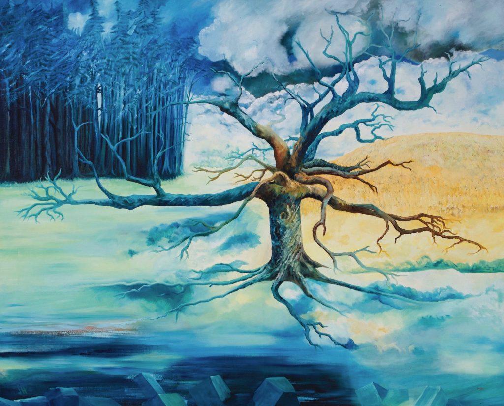 Tree Ragley Estate Landscape Painting