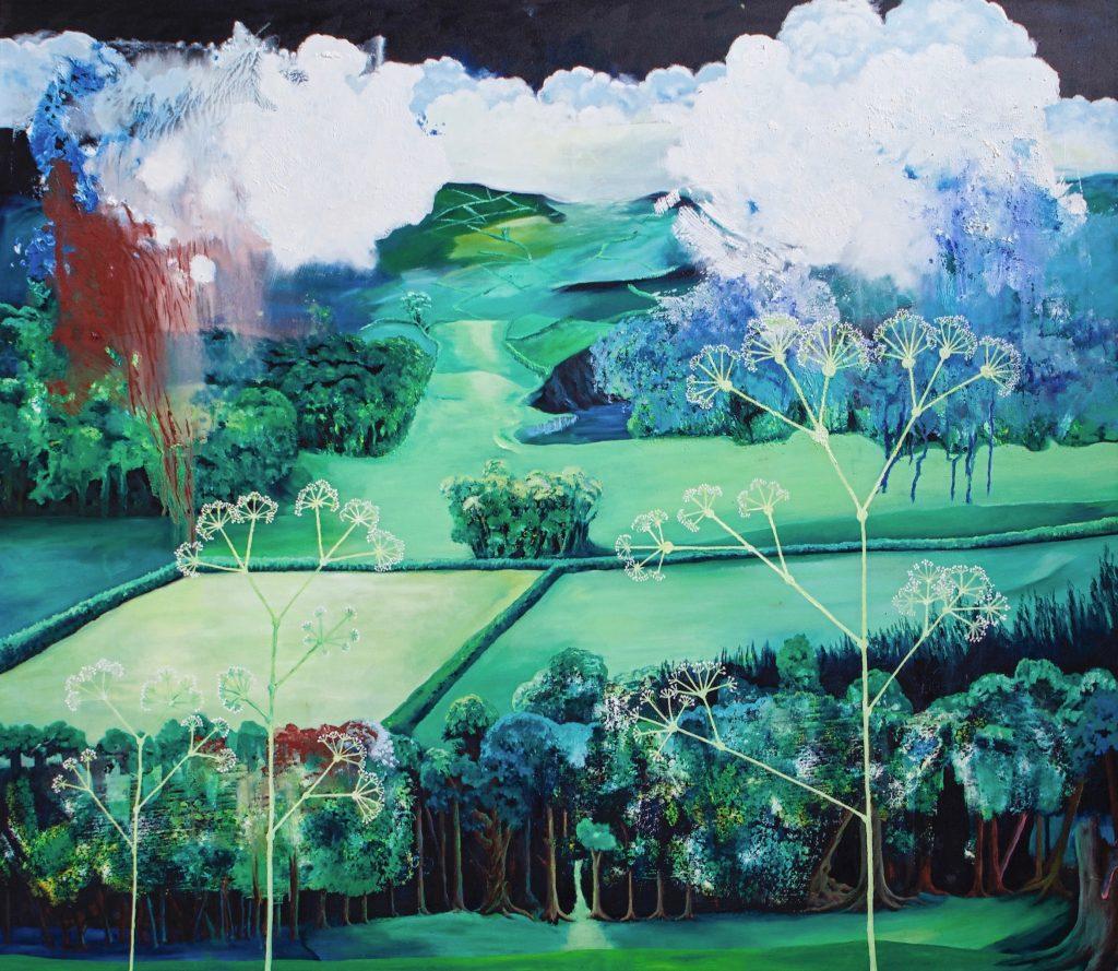 Summer Walk Landscape Painting