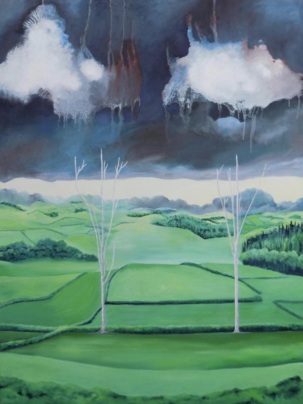 Two Trees Landscape Painting