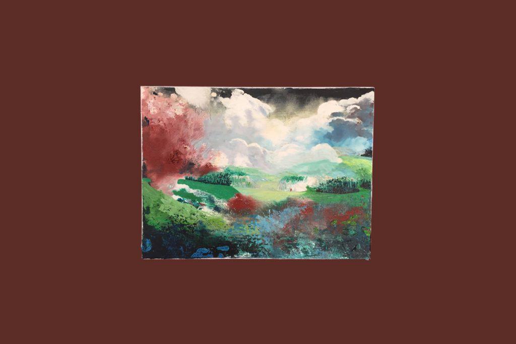 Warwickshire Small Landscape Painting