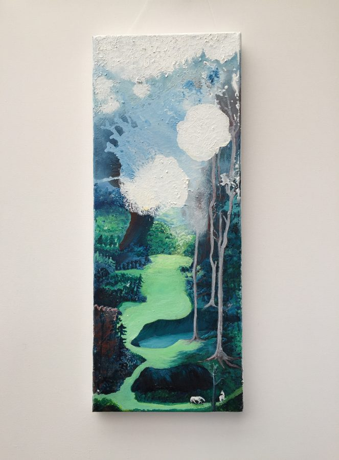 Valley Landscape - Oil on Canvas
